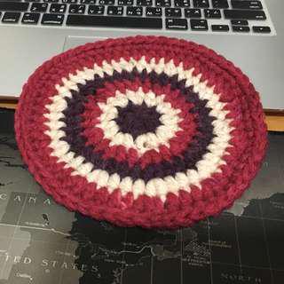 自家製作。人手編織。。杯墊,碗墊