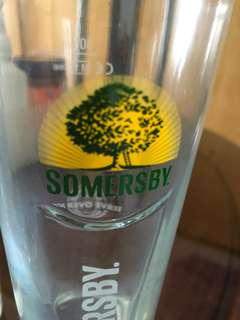Somersby glasses x 5.  20 each, 90 for 5!