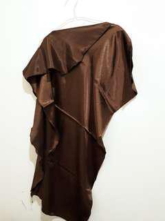 Dress Glitter coklat