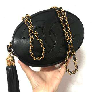 Authentic Chanel Bohemian Styled Tassel Sling with 24k Gold Hardware