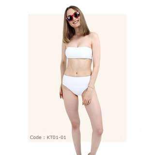 Bikini high waist white