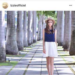 🚚 L'zzie Blue and White Polka Dot Dress