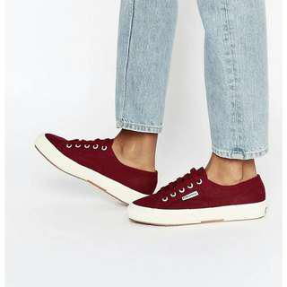 superga sneakers in bordeaux