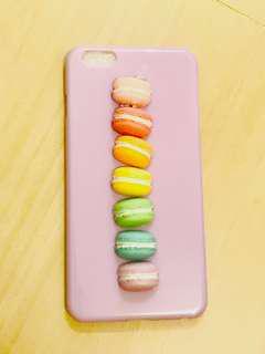 粉紫 馬卡龍 手機 硬殻 iphone 6 plus macaron case