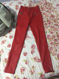 I AM GIA geldof pants red