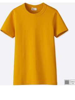 🚚 UNIQLO U系列圓領tshirt短袖 芥末黃