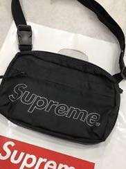 LAST PIECE Supreme FW18 Black Shoulder Bag