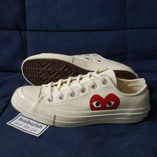 Instock! 1970s ● Japan Red Heart Canvas Shoe 👉 Chuck Taylor