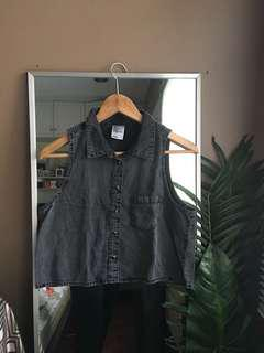 H&M Jean Button Down Top