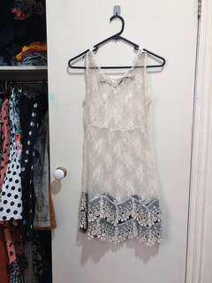 Vintage Lace Overlay Festival Dress
