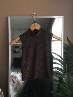 Miss Selfridge High Neck Sparkly Top