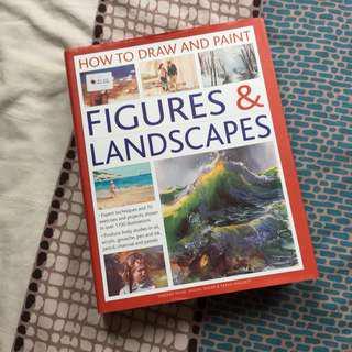 How to Draw and Paint: Figurines & Landscapes - Buku Lukis Buku Gambar