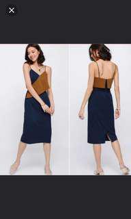 Love Bonito Morley Layer Midi Dress in Blue