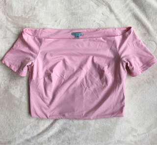 Pink Kookai crop