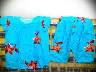 New Batik Indra Solo Baju Celana Setelan Rumah Size M