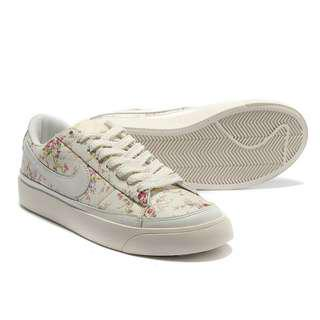 INSTOCK Nike Blazers Liberty White Rose Floral Sneakers Shoes