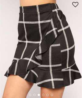Fashion nova checked skirt