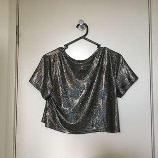Holographic Cropped Top