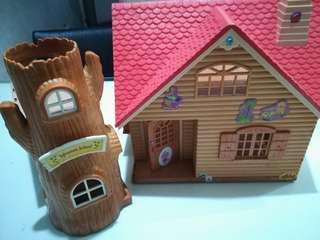 Sylvanian 3 set houses