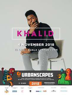 Khalid Live in KL Malaysia - Urbanscapes 2018