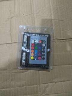 Lampu LED senja RGB pakai remote