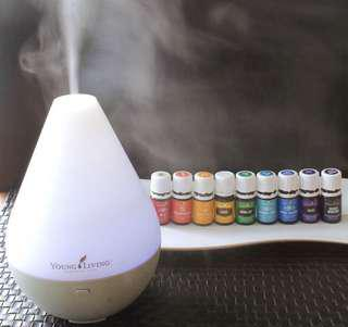 Young living essential oils starter kit with diffuser