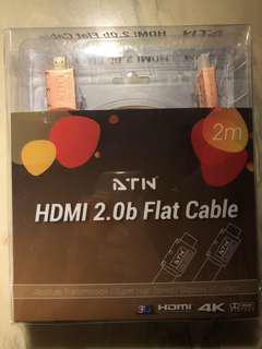 ATN HDMI 2.0b Flat cable (2M, 200cm 長)
