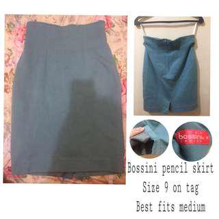 Bossini pencil skirt with back slit