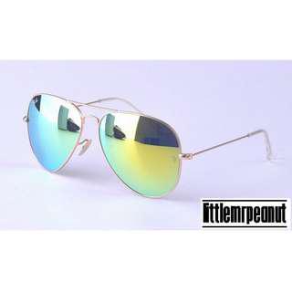 RB 3025 AVIATOR Sunglasses (Flash Lens)