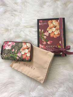 Gucci Blooms Print Card Wallet