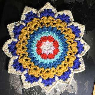 自家製作。人手編織。。枱墊。#3
