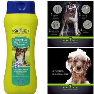 BN FURminator deshedding formula Frequent Use Ultra Premium Dog Pet Shampoo, 16oz for shed control