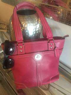Authentic Coach Pink Pebbled Leather Bag
