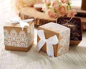 CHEAPEST Rustic and lace kraft gift box