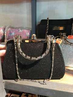 Black Glitter Mini Bag