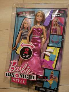 New Barbie doll Day to Night style by Mattel
