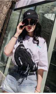 Ins popular chest bag sling bag. Black color only