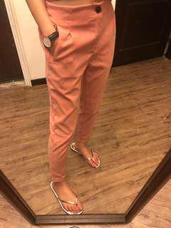 蜜桃絨褲子