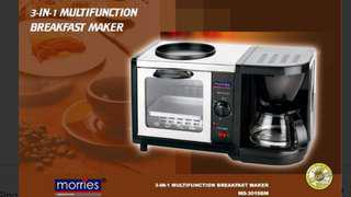 Morries 3 in 1 Breakfast Machine (Oven, Coffee and Frying)