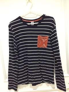 Authentic Graphic Longsleeve - Black/stripes