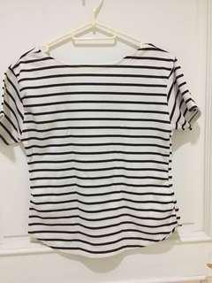 Brand new printed/stripes office top - selling at wholesale price!