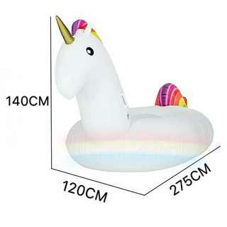L Size Giant Unicorn Inflatable Float for swimming and beach