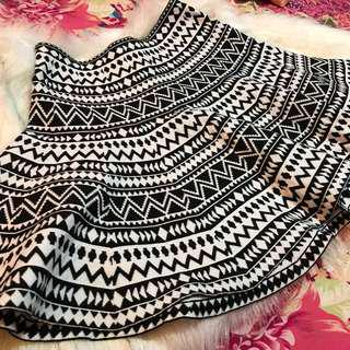 B&W Tribal Skirt