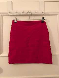 KOOKAI Hot Pink Bandage Skirt - Size 2