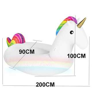 M size Unicorn Inflatable Float for Swimming and beach