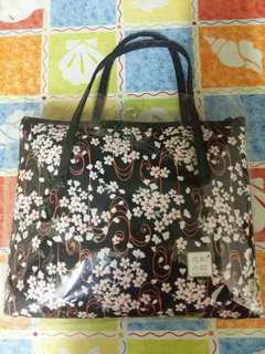 花和小紋手袋、Flower pattern handbag