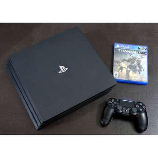 PS4 Pro with Warranty and Game 1TB