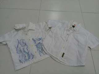 combo timberland & baby gap Boys white Shirt