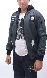 Jaket pilot distro BB with hoodie