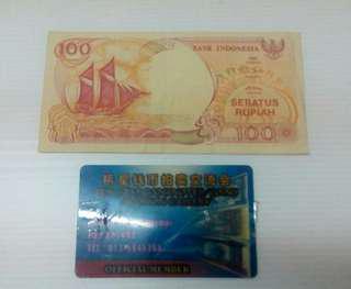 100 Rp Perahu Penisi
